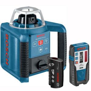 تراز لیزری چرخشی + گیرنده ی لیزر + ریموت کنترل بوش