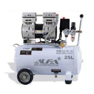 کمپرسور باد 25 لیتری بی صدا آلفا مدل SC25L-A