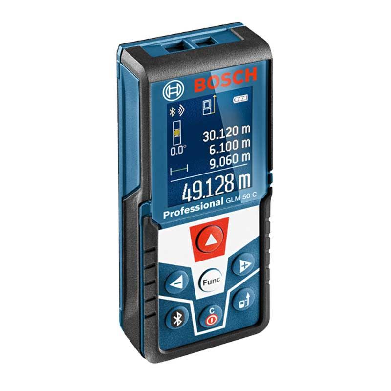 متر لیزری 50 متری بلوتوث دار بوش مدل GLM50C | Bosch Laser Distance Meter Model GLM50C
