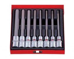 مجموعه پیچ گوشتی آلن بکسی 9 تایی بلند ای-کرافت کد 5-924009