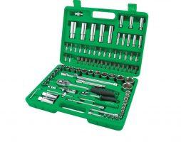 جعبه ابزار سبز 94 پارچه پلاستیکی تاپ تول TOPTUL