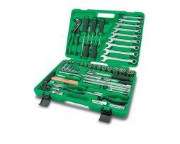 جعبه ابزار سبز 80 پارچه پلاستیکی تاپ تول TOPTUL