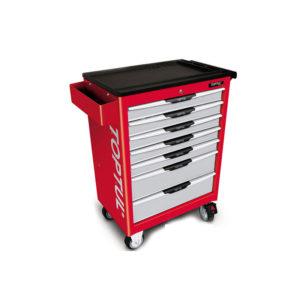 جعبه ابزار 7 کشو چرخ دار (قرمز) تاپ تول TOPTUL