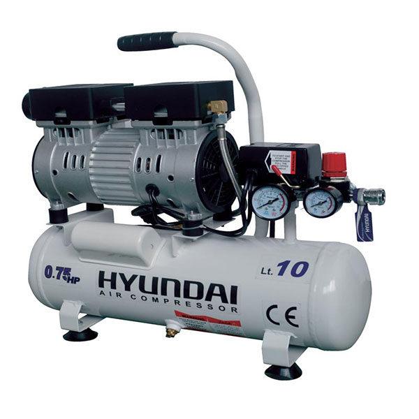 کمپرسور باد 10 لیتری بی صدا هیوندای مدل AC-1075