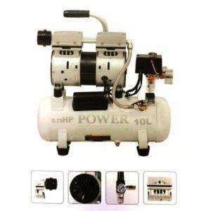 کمپرسور باد 10 لیتری بی صدا پاور مدل CP10L-S