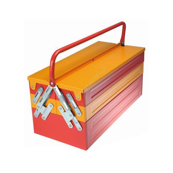 جعبه ابزار فلزی دو طبقه 46 سانت ایران پتک مدل TG 2011 |