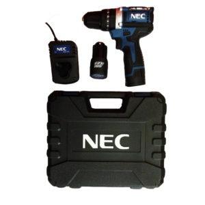 دریل پیچ گوشتی شارژی چکشی بدون زغال ان ای سی (NEC) مدل 1515