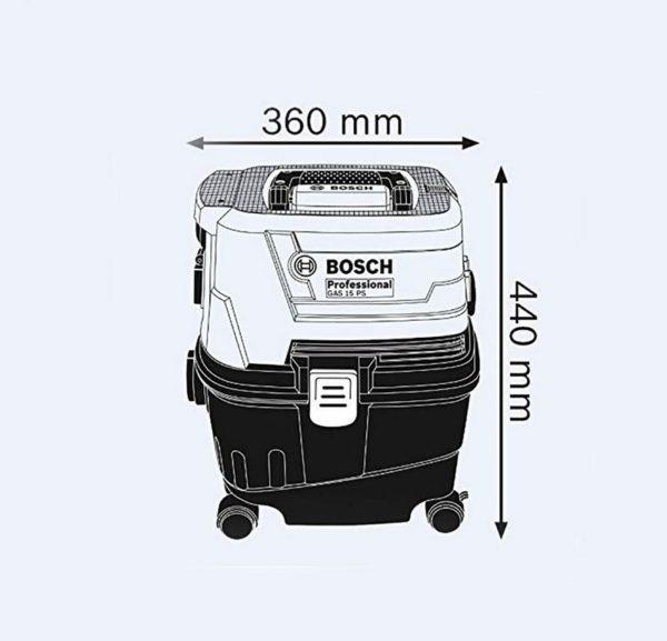 جاروبرقی صنعتی بوش مدل GAS15 PS